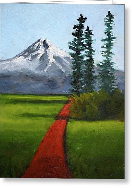 Greeting Card featuring the painting Baker Meadow by Nancy Merkle