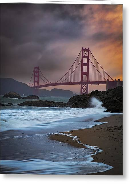 Baker's Beach Greeting Card by Edgars Erglis