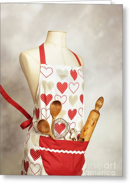 Baking Apron Greeting Card by Amanda Elwell