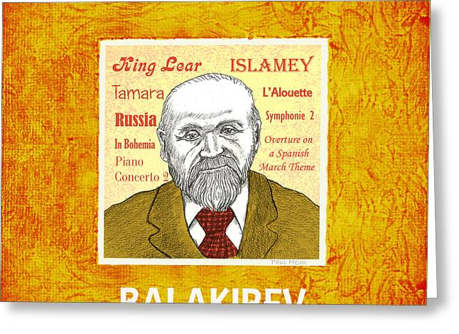 Balakirev Greeting Card by Paul Helm