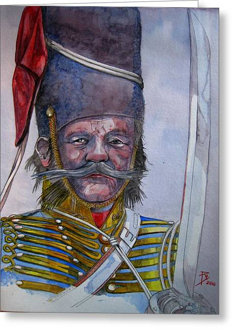 Mustache Greeting Cards - Balaklava Greeting Card by Ray Agius