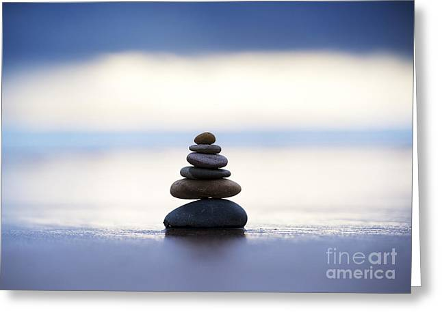 Balance And Calm Greeting Card by Tim Gainey
