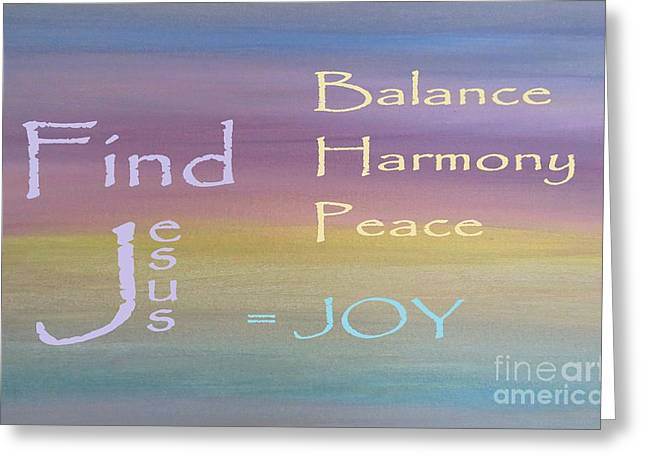 Balance Harmony Peace ... And Joy Greeting Card