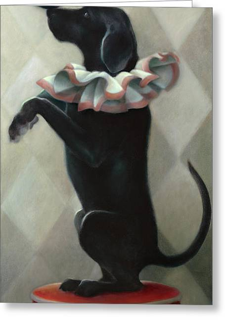 Balance Paintings Greeting Cards - Balance Greeting Card by Katherine DuBose Fuerst
