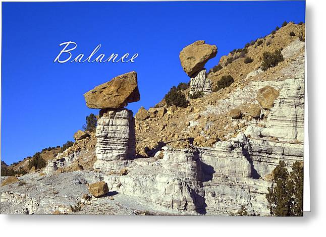 Greeting Card featuring the photograph Balance by Lou  Novick