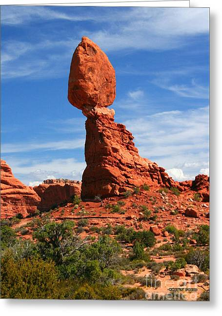 Balanced Rock In Arches National Park, Moab, Utah Greeting Card