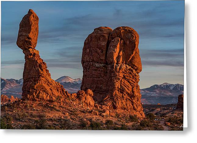 Balanced Rock Sunset Greeting Card