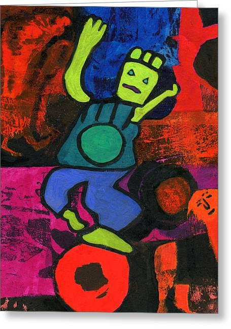 Balancing Act Greeting Card by Catherine Redmayne