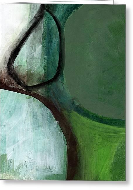 Balancing Stones Greeting Card by Linda Woods