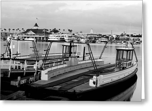 Balboa Ferry Greeting Card by Eric Foltz