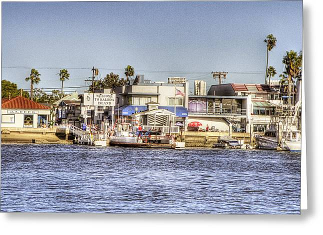 Balboa Island Greeting Card by Ariane Moshayedi