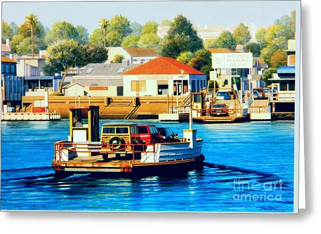 Balboa Island Ferry Greeting Card