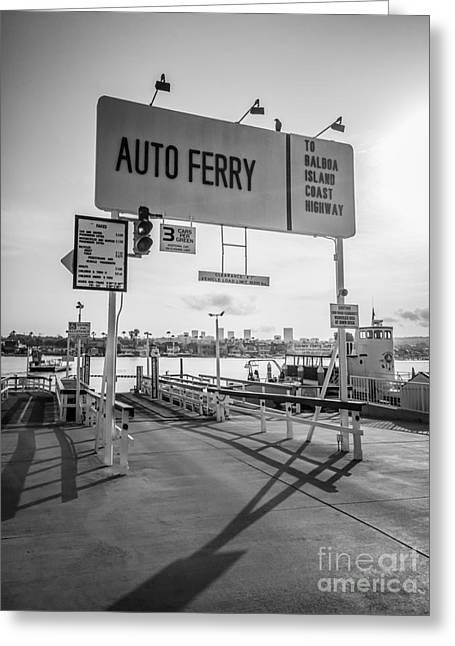 Balboa Island Ferry In Newport Beach California Greeting Card by Paul Velgos