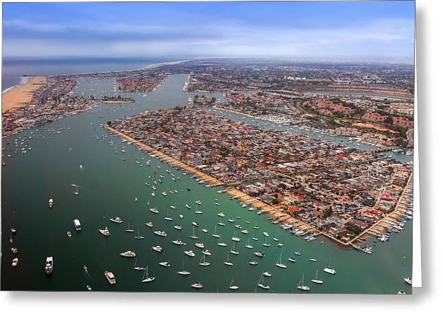 Balboa Island Newport Beach California Greeting Card by Cliff Wassmann