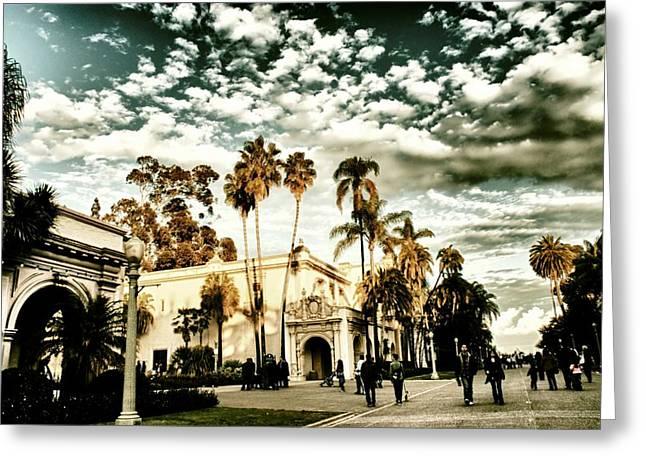 Balboa Park Greeting Card by Frank Garciarubio