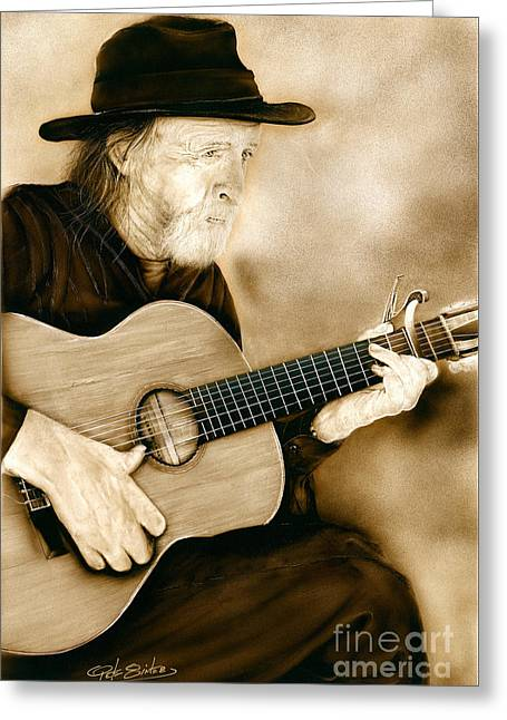 Balboa Park Guitarist Greeting Card