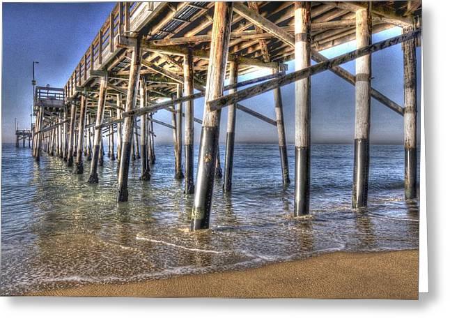 Balboa Pier Pylons Greeting Card