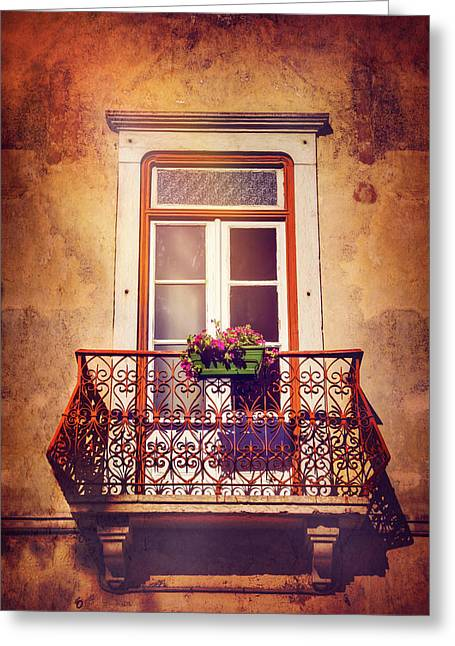 Balcony In Lisbon  Greeting Card