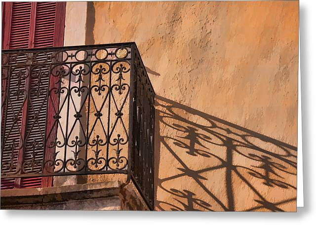 Balcony In Provence Greeting Card