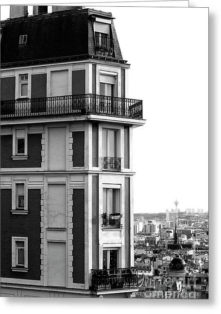 Balcony View In Montmartre Greeting Card by John Rizzuto