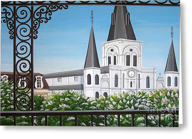 Balcony View Of St Louis Cathedral Greeting Card