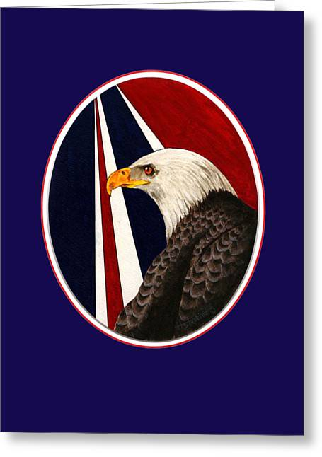 Bald Eagle T-shirt Greeting Card by Herb Strobino