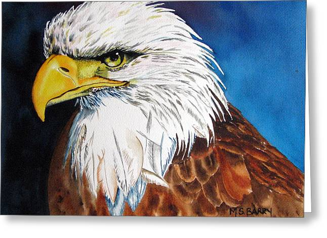 Bald Eagle Greeting Card by Maria Barry
