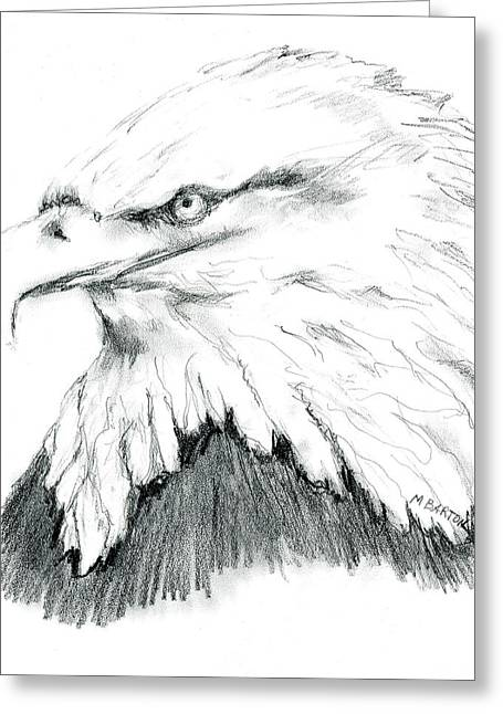 Bald Eagle Greeting Card by Marilyn Barton