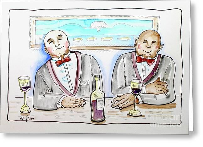 Bald Gentlemen's Club Greeting Card