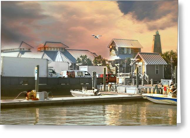 Bald Head Island Pier Greeting Card