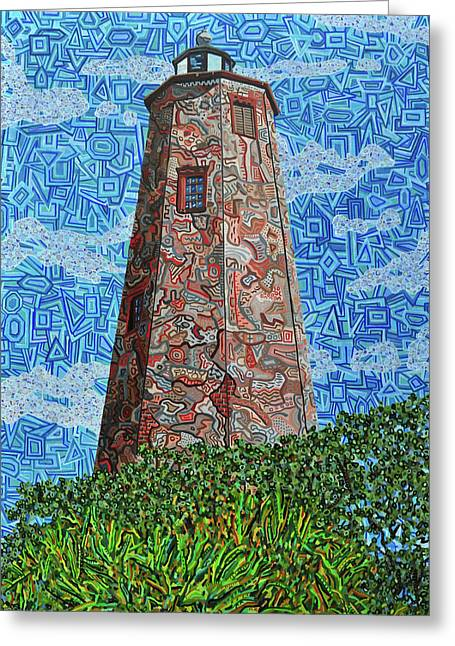 Bald Head Island, Old Baldy Lighthouse Greeting Card by Micah Mullen