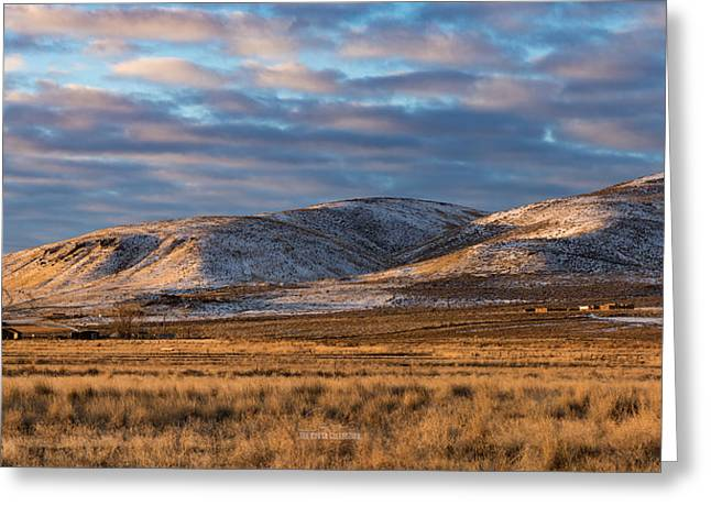 Greeting Card featuring the photograph Bald Mountain At Dawn 2 by The Couso Collection
