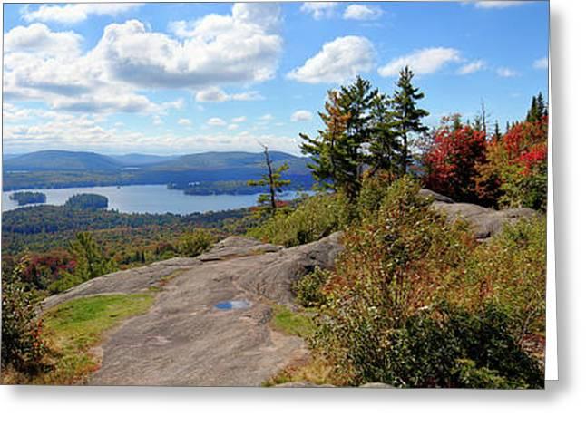 Bald Mountain Autumn Panorama Greeting Card