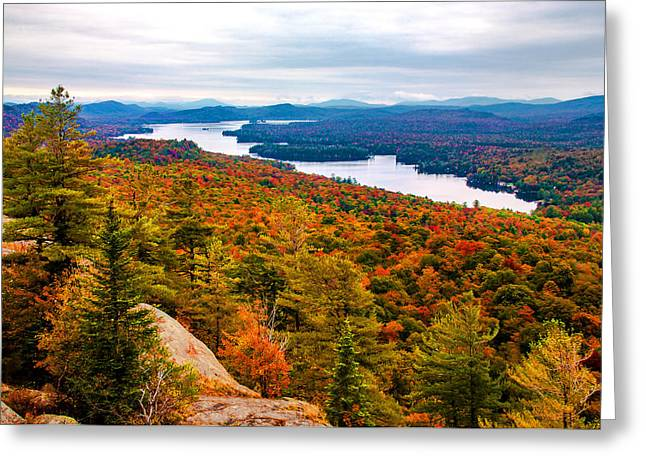 Bald Mountain View Of Autumn Greeting Card by Tony Beaver