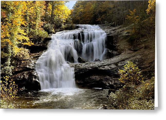 Bald River Falls In Autumn Greeting Card by Darrell Young
