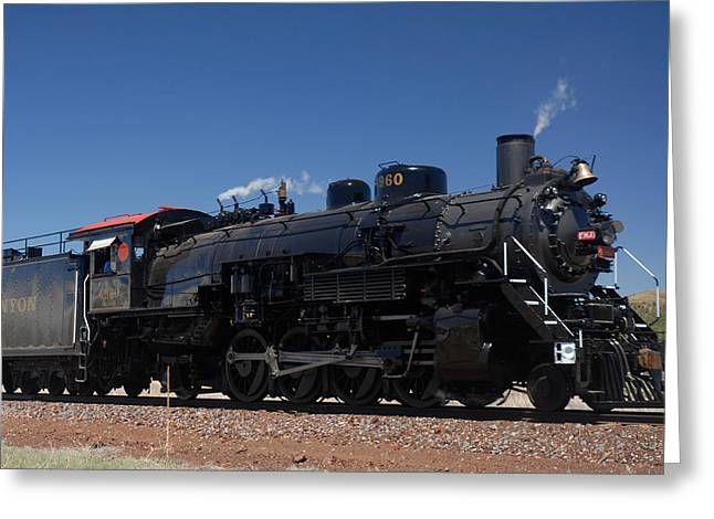 Baldwin Mikado 2-8-2 No 4960 Steam Locomotive Williams Arizona Greeting Card by Brian Lockett