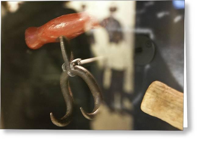 Greeting Card featuring the photograph Bale Hooks by Miroslava Jurcik