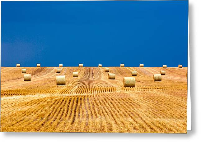 Bales On The Storm Greeting Card