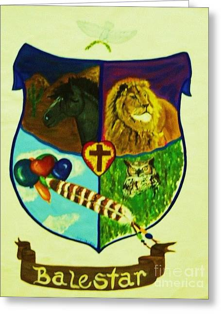Balestar Crest Greeting Card by Jamey Balester