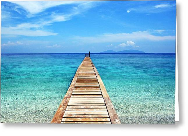 Bali Beach Indonesia Greeting Card