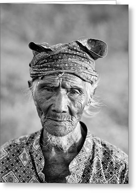 Bali Fisherman Greeting Card by Mike Reid