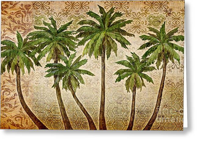 Bali Palms Greeting Card