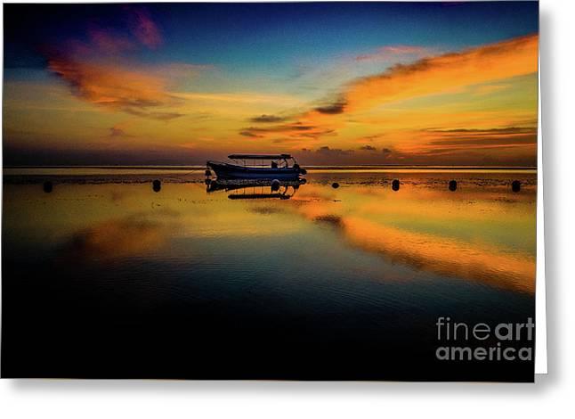 Magical Bali Sunrise Greeting Card