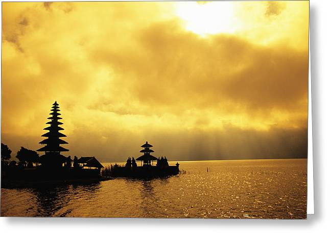 Bali, Temple Greeting Card by Dana Edmunds - Printscapes