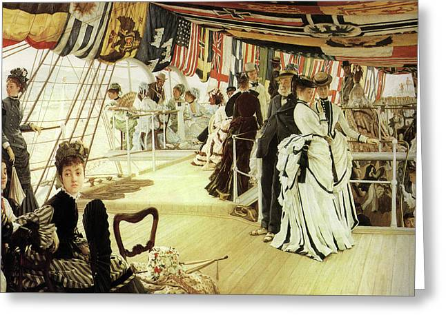 Ball On Shipboard Greeting Card by James Tissot