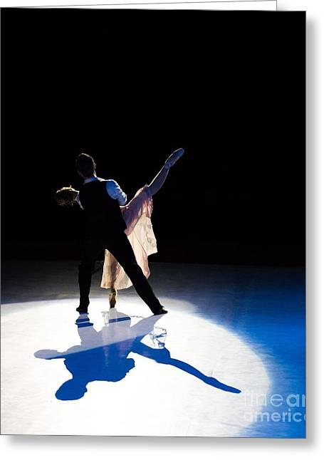 Ballet Dancers On Stage Greeting Card by Predrag Sepelj