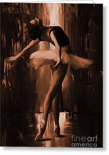 Ballerina 0uix Greeting Card
