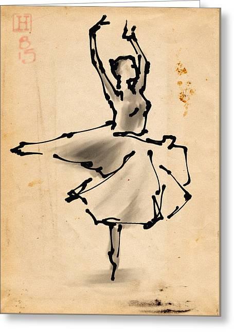 Ballerina 5 Greeting Card by H James Hoff