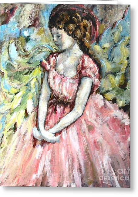 Ballerina Angel Greeting Card