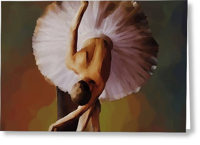 Ballerina Art 0421 Greeting Card